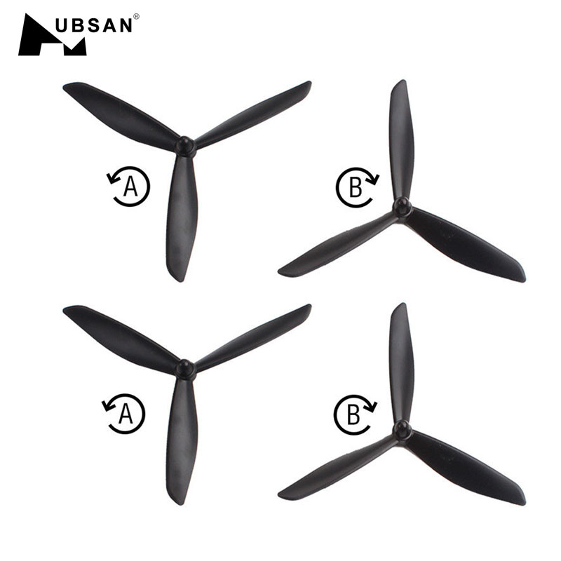 4PCS Hubsan H109S X4 Spare Parts Upgraded Triangle 3 Blade CW CCW Propeller Black For RC Quadcopter Models Drone Accessories4PCS Hubsan H109S X4 Spare Parts Upgraded Triangle 3 Blade CW CCW Propeller Black For RC Quadcopter Models Drone Accessories