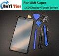 100% заменить Для UMI Супер ЖК-Дисплей + Touch Screen Digitizer Ассамблеи Замена Экрана Для UMI Супер Мобильные Аксессуары