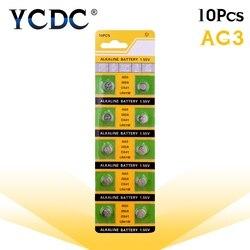 10 stücke/karte AG3 Für Uhr Spielzeug Fernbedienung SR41 192 Cell-münze Alkaline Batterie 1,55 V L736 384 SR41SW CX41 LR41 392 Taste Batterien