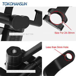 Image 3 - Motorcycle Telephone Holder Support Moto Bicycle Rear View Mirror Stand Mount Aluminum Scooter Motorbike Phone for Samsung s9 s8