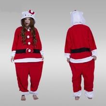 2017 winter animal pajamas Adults Santa Claus Onesie mascot Christmas halloween cospaly costumes for women men