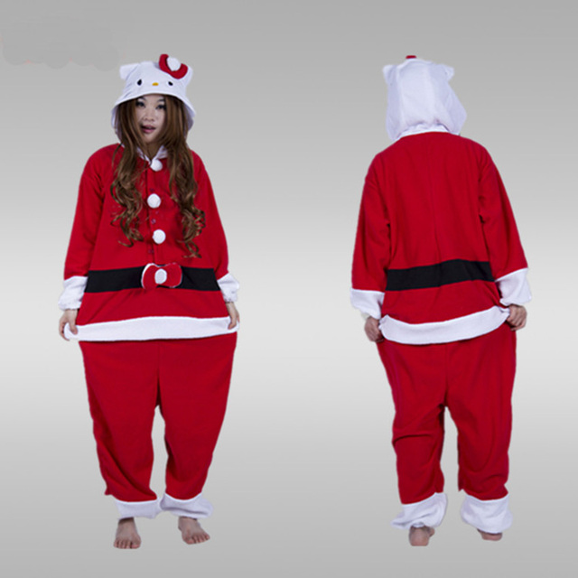 f6ef6ba892bb 2017 winter animal pajamas Adults Santa Claus Onesie mascot Christmas  halloween cospaly costumes for women men