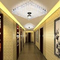 entrance light modern crystal lamp 12W led balcony ceiling light lamps for living room home decoration abajur lustres de sala
