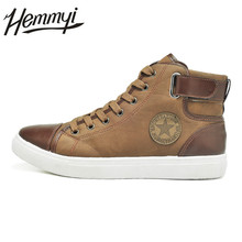 Hemmyi 2017 Autumn New Fashion Men Shoes High Help Lace-up Men's Boots Casual Brand Male Shoes US Big Size 11 12