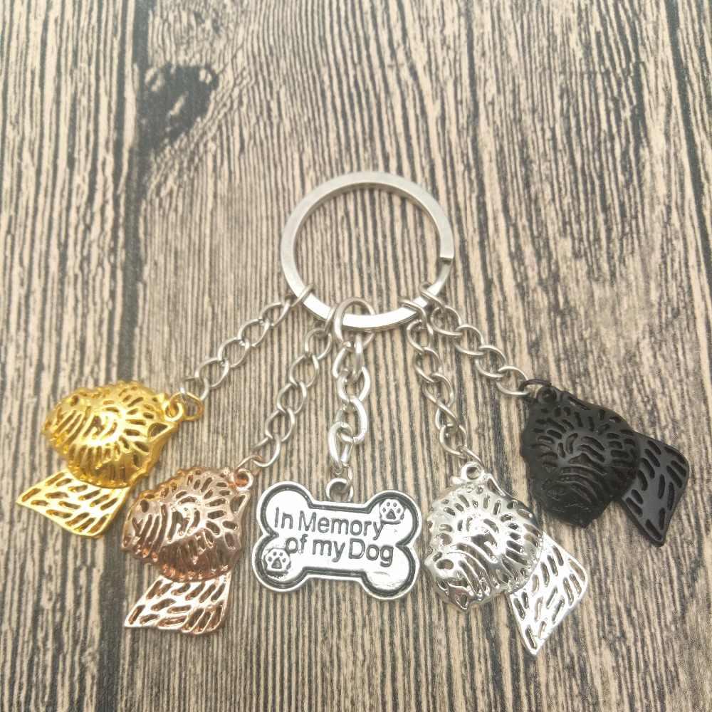 Tây Vùng Cao Trắng Terrier Key Chains Fashion Pet Dog Đồ Trang Sức Tây Vùng Cao Trắng Terrier Keychain Bag Keyring Cho Phụ Nữ Người Đàn Ông