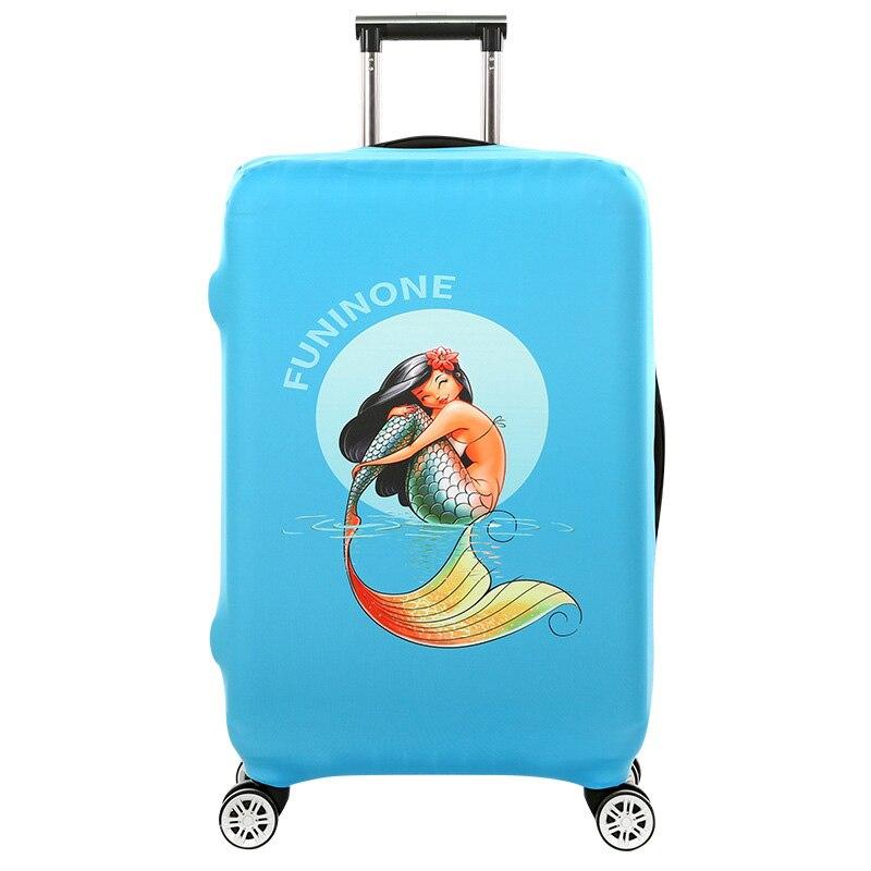 Poissons Conception 18-32 ''Couverture pour Valise Sacs de Voyage Bagages Accessoires pour Hommes Femmes Étanche Valise De Protection cas de Couverture