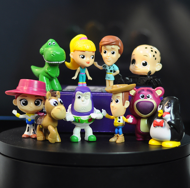 10pcs/lot Toy Story Figure Toy Woody Buzz Lightyear Jessie
