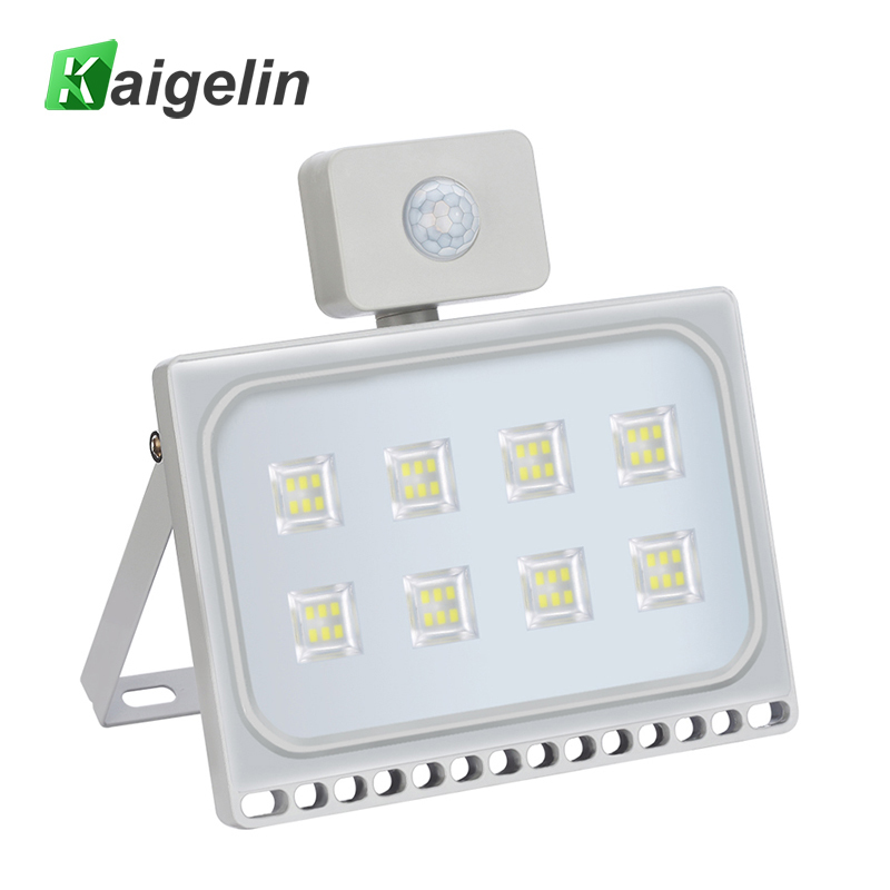 Kaigelin PIR LED Motion Sensor Floodlight 50W 220V Waterproof Construction Lamp LED Flood Light For Garden Security Lighting