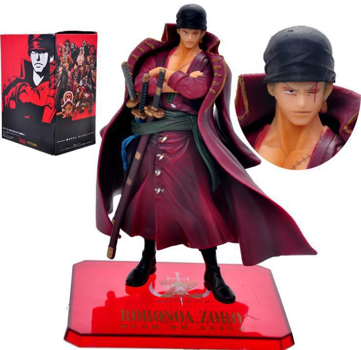 Retail 1Pcs One Piece Film Z Roronoa Zoro PVC Action Figure Toy Zoro Figures Toys Model Collections 15CM Free Shipping one piece action figure roronoa zoro led light figuarts zero model toy 200mm pvc toy one piece anime zoro figurine diorama