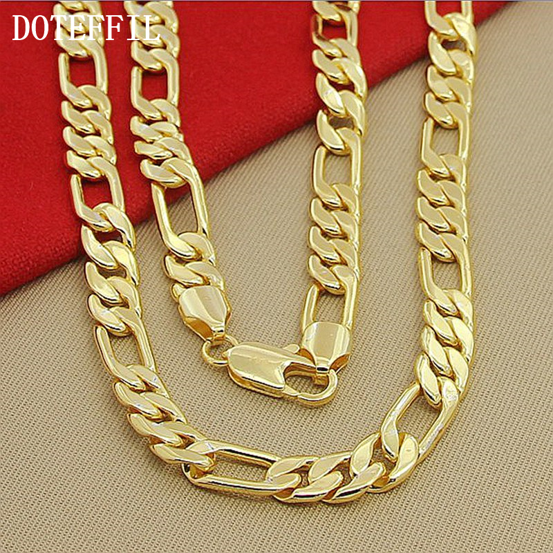 Alta Moda 8mm 22 pulgadas Collar de Cadena de Oro Chunky Males - Bisutería - foto 4