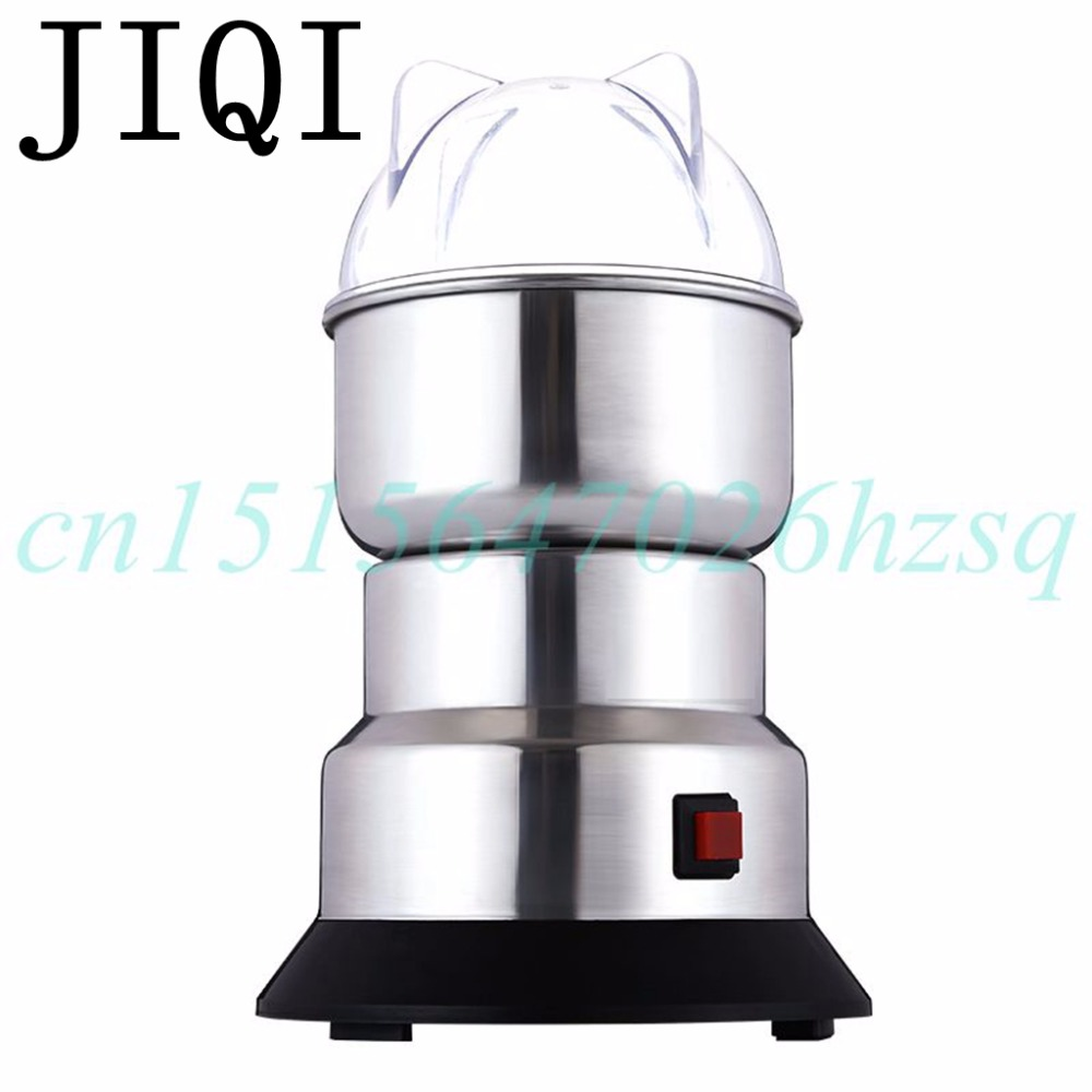 JIQI coffee bean corn Grinder machine electric coffee mill Beans Nuts Grinding Machine stainless steel Blades powder Cru 454g gold medal socona coffee beans coffee powder green slimming coffee beans tea