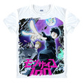 New Anime Mobu Saiko Hyaku Mob T-shirt Mob Psycho 100 t-shirt summer O-NECK Tees Tops