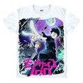 Novo Anime Mobu Saiko Hyaku Mob T-shirt Psicopata Máfia t-shirt 100 verão O PESCOÇO T-shirt Tops