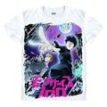 Nuevo Anime Mobu Saiko Hyaku Mafia Mafia T-shirt Psico 100 camiseta del verano del O-CUELLO Camisetas Tops