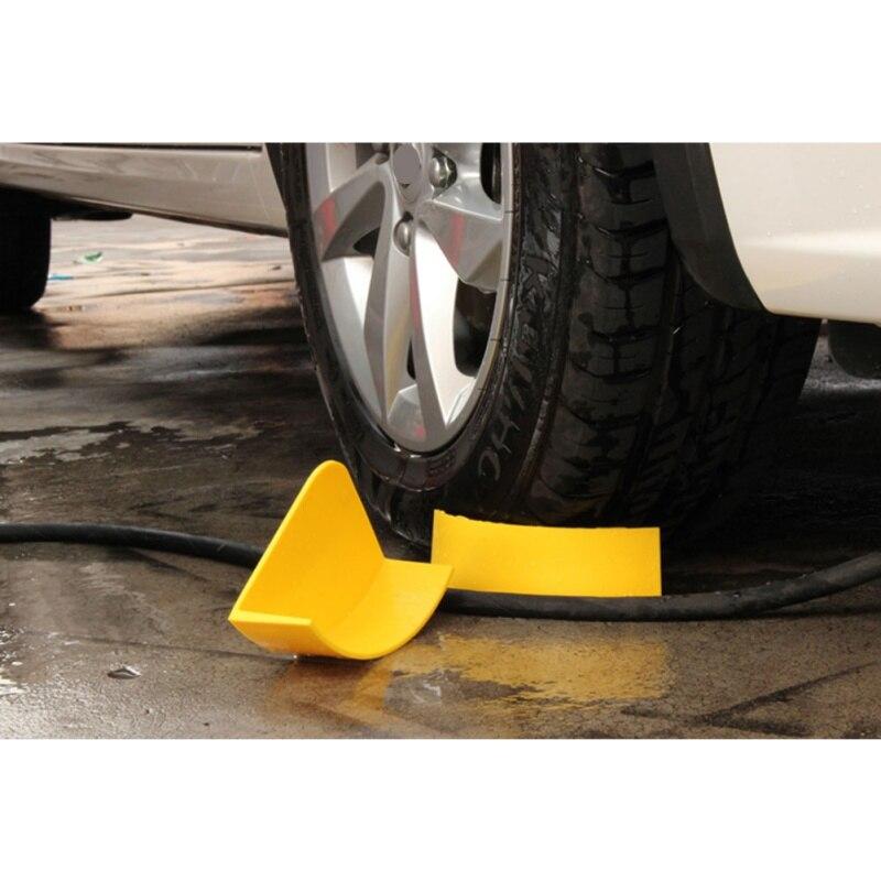 New 1pcs Yellow Auto Detailing Car Wash Cleaning Tire Jam Eliminators Car Wash Insert Detail Tool