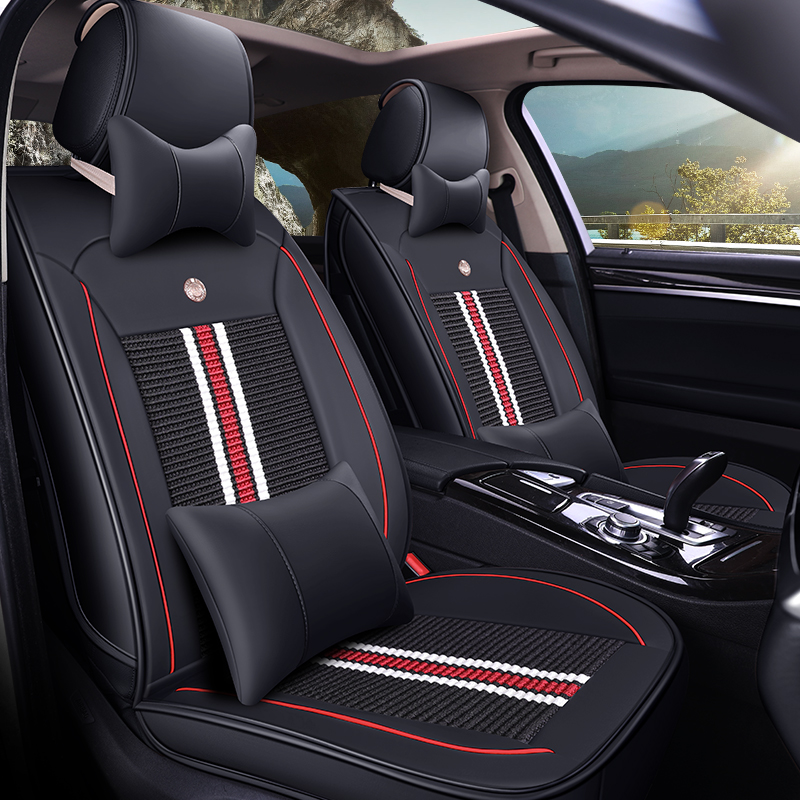 Ice silk car seat cover for Lifan x60 x70 x50 320 330 520 620 630 720 solano Car accessories Car seat protector high quality linen universal car seat cover for lifan x60 x50 320 330 520 620 630 720 car accessories styling free shipping