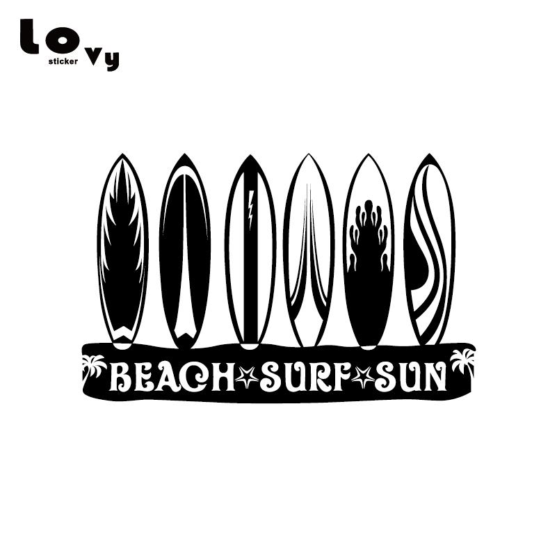 BEACH SURF SUN SURFBOARDS Vinyl Car Sticker/ Decal For Car Window Door Body Decoration  CA0720