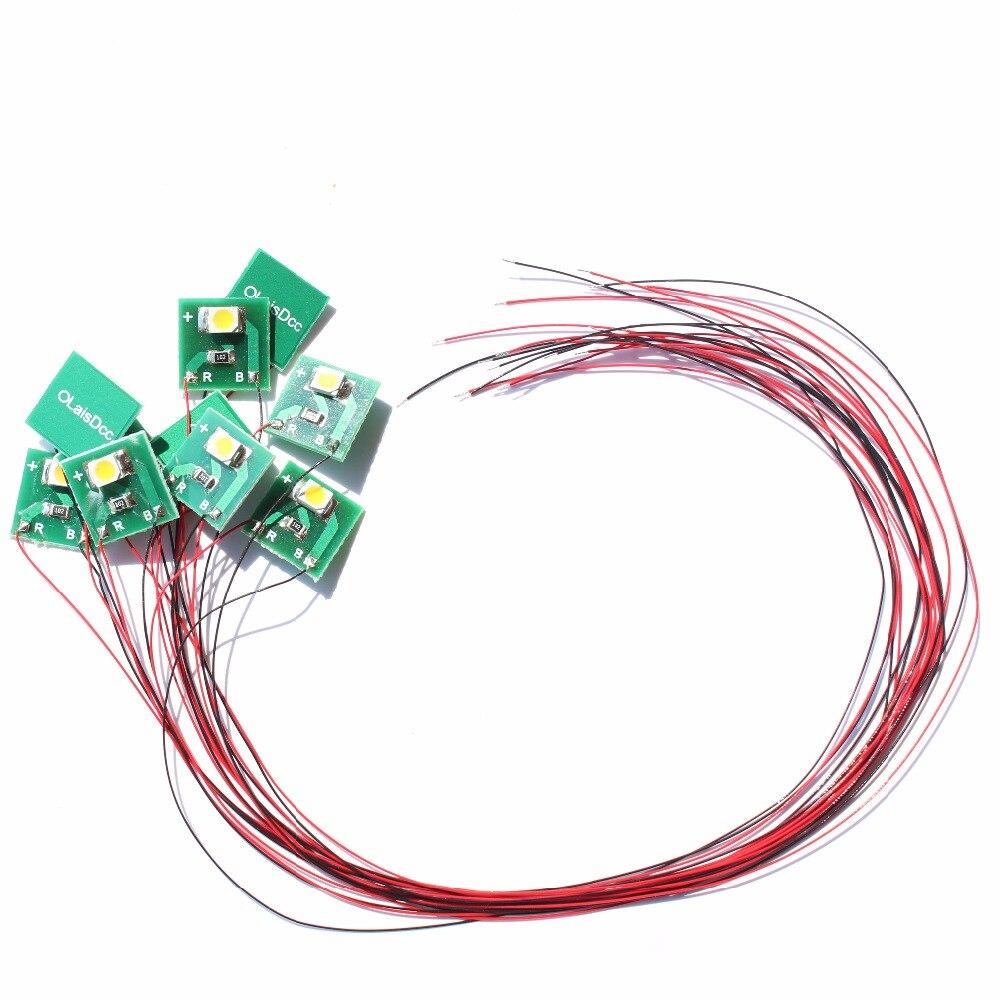 10pcs Pre Wired Warm White/Cold White/Red SMD 3528 Led Lamp Light Set 12V ~ 18V 860025/860040/860041/LaisDcc Brand