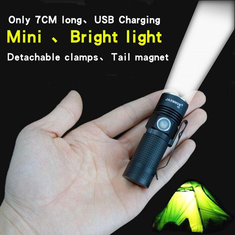 Mini lampe de poche USB charge EDC ultra-petite main lumière portable 16340 miniature de poche côté par lampe de poche JAXMNVE M3
