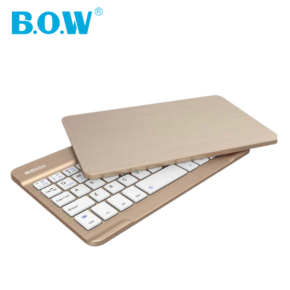 B.O.W 7-8 inch tablet keyboard,Universal Ultra Slim Aluminum Wireless Bluetooth Keyboard for iOS/iPad/Androis/Windows Smartphone