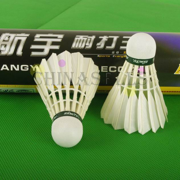 100tube Genuine Hangyu Badminton Shuttlecocks Durable King Goose Feather Shuttlecock Badminton Ball 12balls FlightA