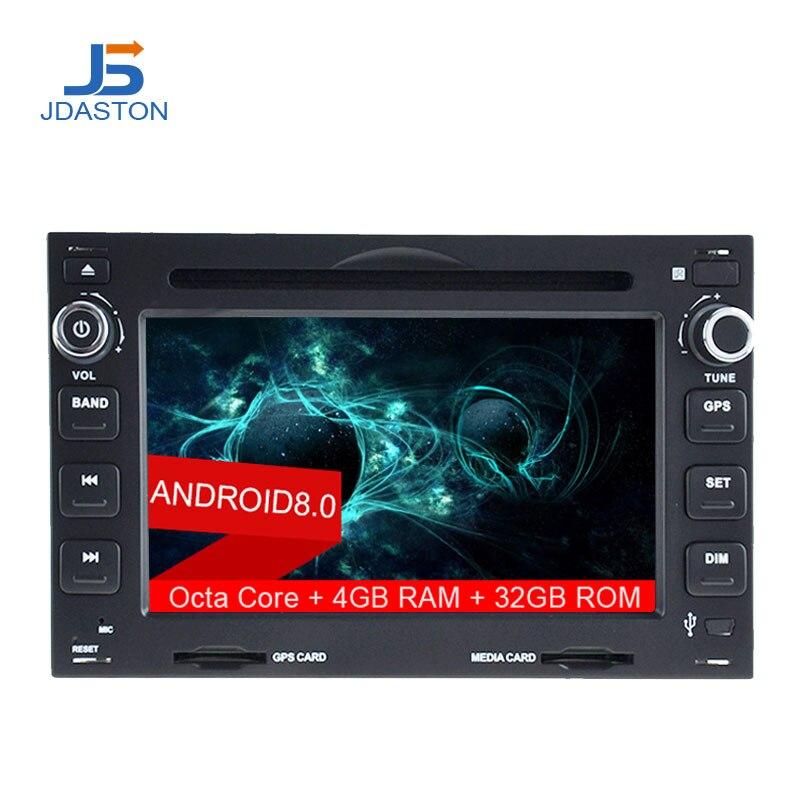JDASTON 2DIN Android 8.0 Lecteur DVD de Voiture Pour Volkswagen VW Bora Golf Polo DE GOLF MK3 Mk4 TRANSPORTEUR T5 T4 Multimédia stéréo Radio