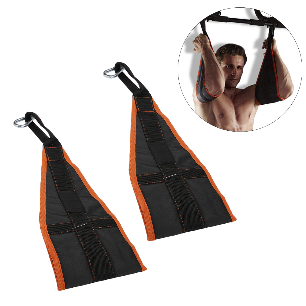 Abdominal straps crunch weight lifting door hanging gym chinning - Fitness Sports Muscle Training Suspension Hanging Ab Sling Hanging Strap Pull Up Straps Belt Chin Up