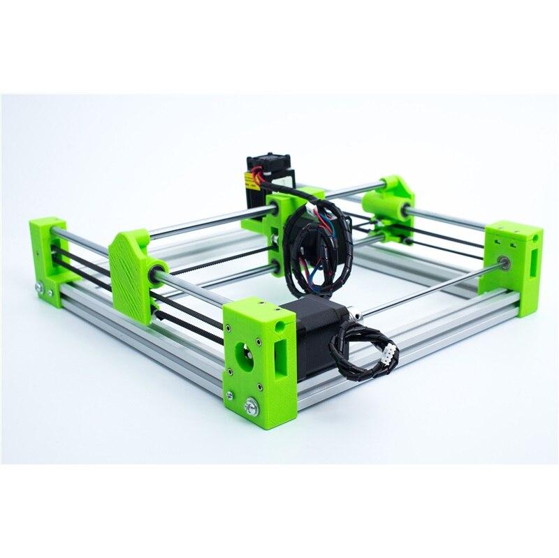 3D печать версия зеленый цвет лазер LY 500 МВт 1500 МВт 2500 мвт 5500 мВт синий фиолетовый 2017 мини разобранный лазерный гравировальный станок