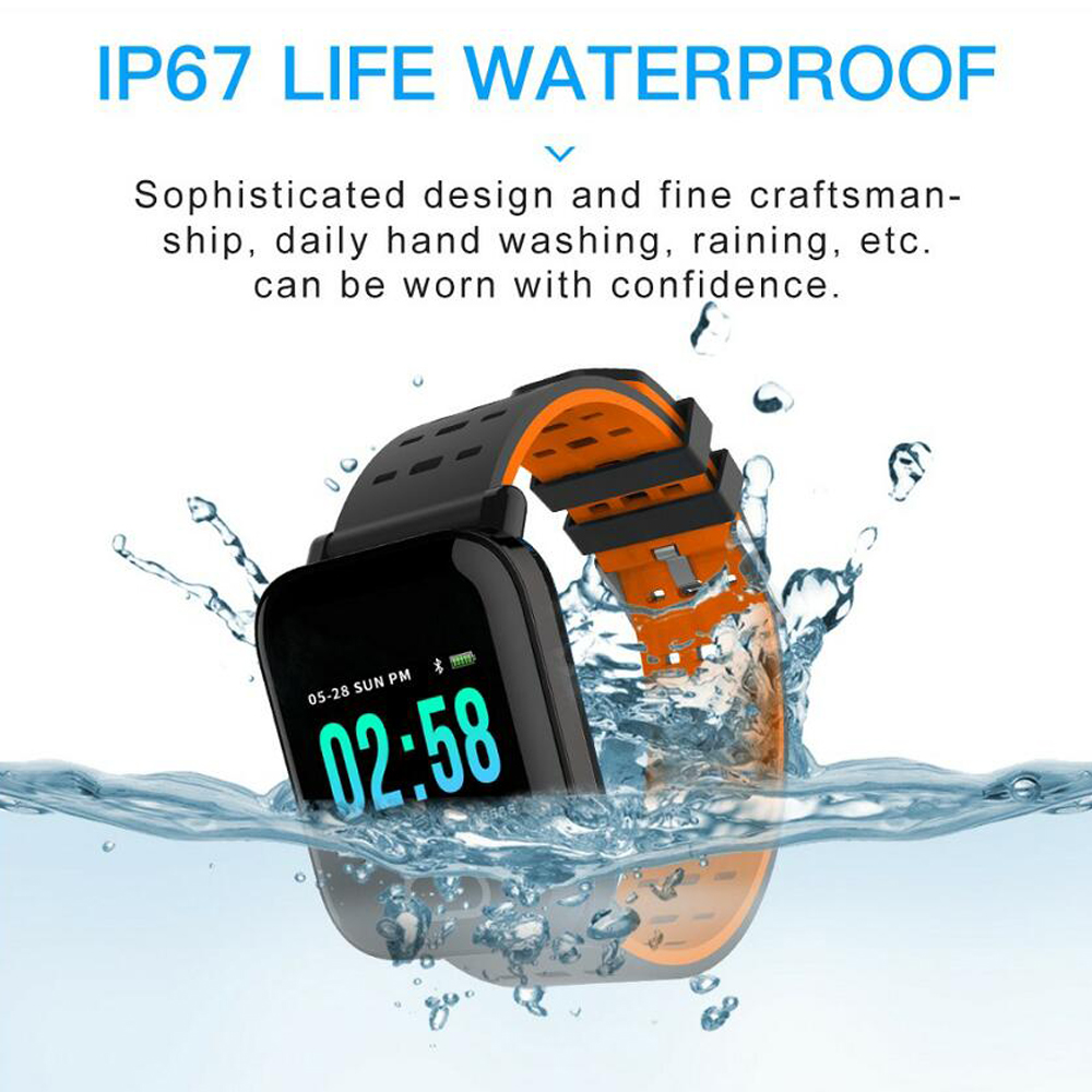 Smart Band Blood Pressure Smart Bracelet Heart Rate Monitor Sport Fitness Tracker IP67 Waterproof Smart Bluetooth WristbandWatch in Smart Wristbands from Consumer Electronics