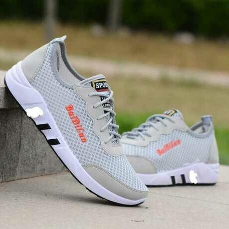 2020 New men's casual shoes mesh breathable men's shoes fashion grey shoes male students tide shoes 39-43