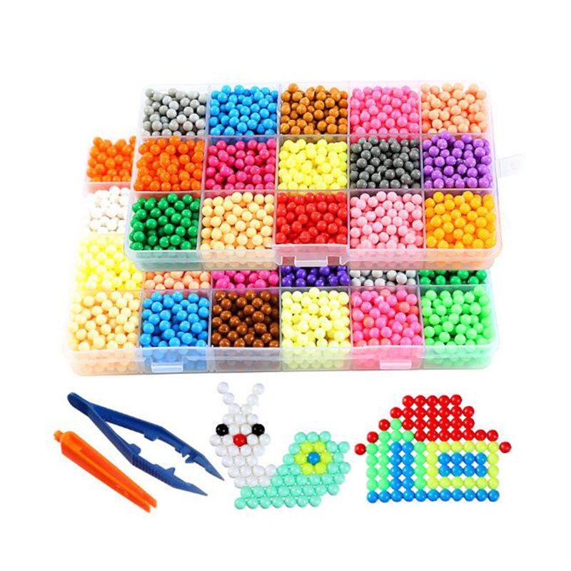 42 Colors DIY Magic Safety Puzzle Water Spray Educational Aqua beads handmade Toys for Children Education