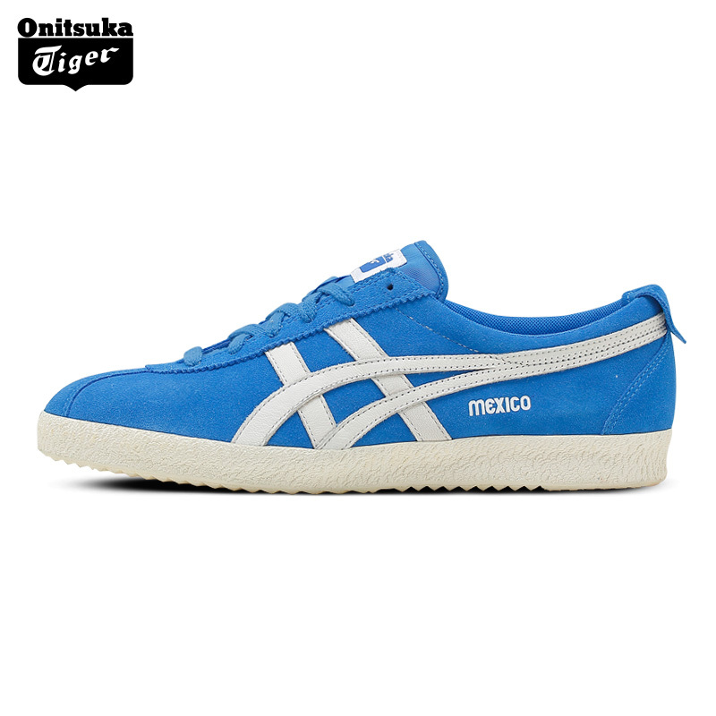 ONITSUKA TIGER MEXICO Retro Walking Shoes Men Classical Sport Shoes Light Weight Leather Women's Skateboarding Shoes Blue Color onitsuka tiger mexico 66 grey dragon fly