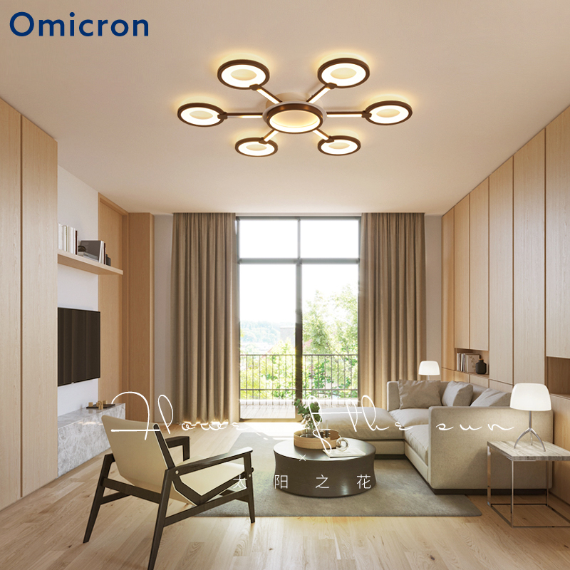 Omicron Modern New LED Creative Chandeliers Brown Frame Lustre Fixture For Bedroom Living Room Chandeliers Lampara FixturesOmicron Modern New LED Creative Chandeliers Brown Frame Lustre Fixture For Bedroom Living Room Chandeliers Lampara Fixtures