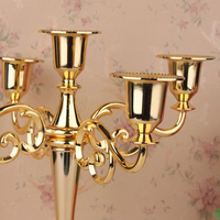 Metal Candle Holder 5 Arms Candle Stand Wedding Candlestick Candelabra Wholesale Silver Gold Black Bronze
