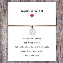 Peace Charm Card Bracelets Hamsa Fatima Hand Evil Horus Eye Yoga om OHM Women Men Love Jewelry Best Friend Gift