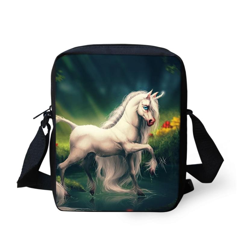 Messenger-Bag Crossbody-Bags Unicorn-Print Horse Travel-Bag Small Women Newest for Girls