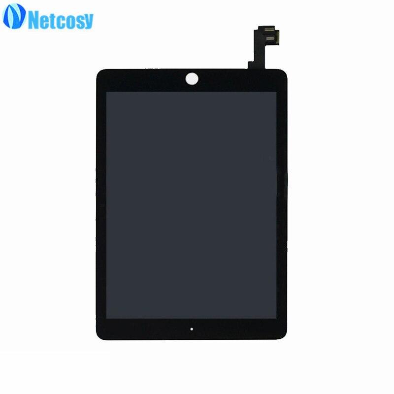 Netcosy pour ipad A1567 A1566 écran LCD noir/blanc écran LCD + écran tactile assemblage pour ipad air 2 Test avant l'expédition