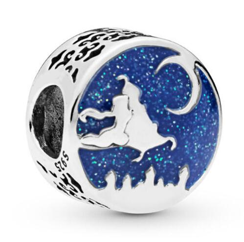 Popular Brand Original 925 Sterling Silver Bead Aladdin & Jasmine Magic Carpet Ride Charm Fit Pandora Women Bracelet & Necklace Diy Jewelry Orders Are Welcome. Beads & Jewelry Making Jewelry & Accessories