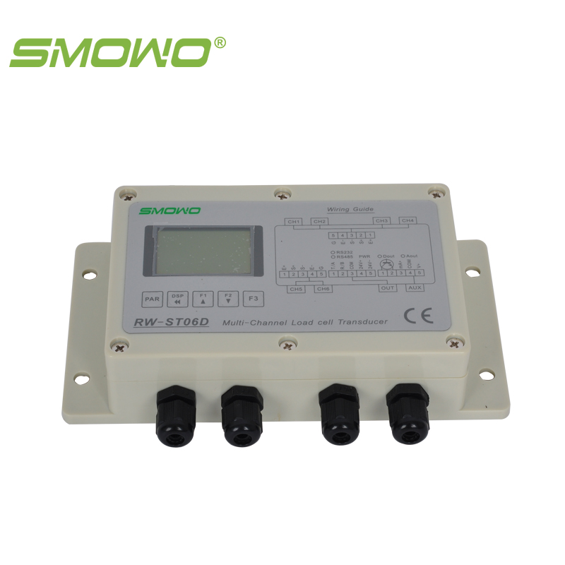 digital load cell transmitter transducer RW-ST06D  RS232/RS485 multi-channel din rail mounting load cell sensor amplifier rs485 modbus rw gt01de