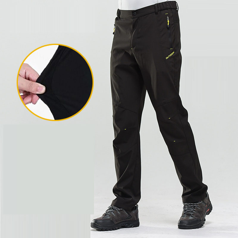 Men and Women Hiking Pants Summer Quick Dry Elastic Waterproof Ultra thin Outdoor Sport Pants Men Trekking Fishing Trousers in Hiking Pants from Sports Entertainment