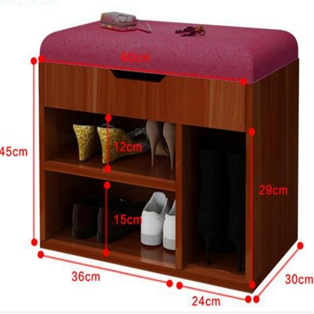 Multipurpose Shoes Storage Stool Modern Changing Bench Living Room Shoe Cabinet