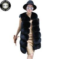 Autumn New Women Artificial Fur Waistcoats 2018 Winter Vintage Fake Fur Vest Long Coat Hot Sell Solid Colors Sleeves Teddy Coat