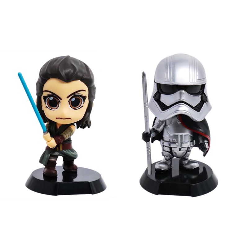 Movie Star Wars Jedi Knight Phasma Action Figure Collectible Model Toys Shaking Head Doll For Collection Gift 11CM dark journey star wars the new jedi order
