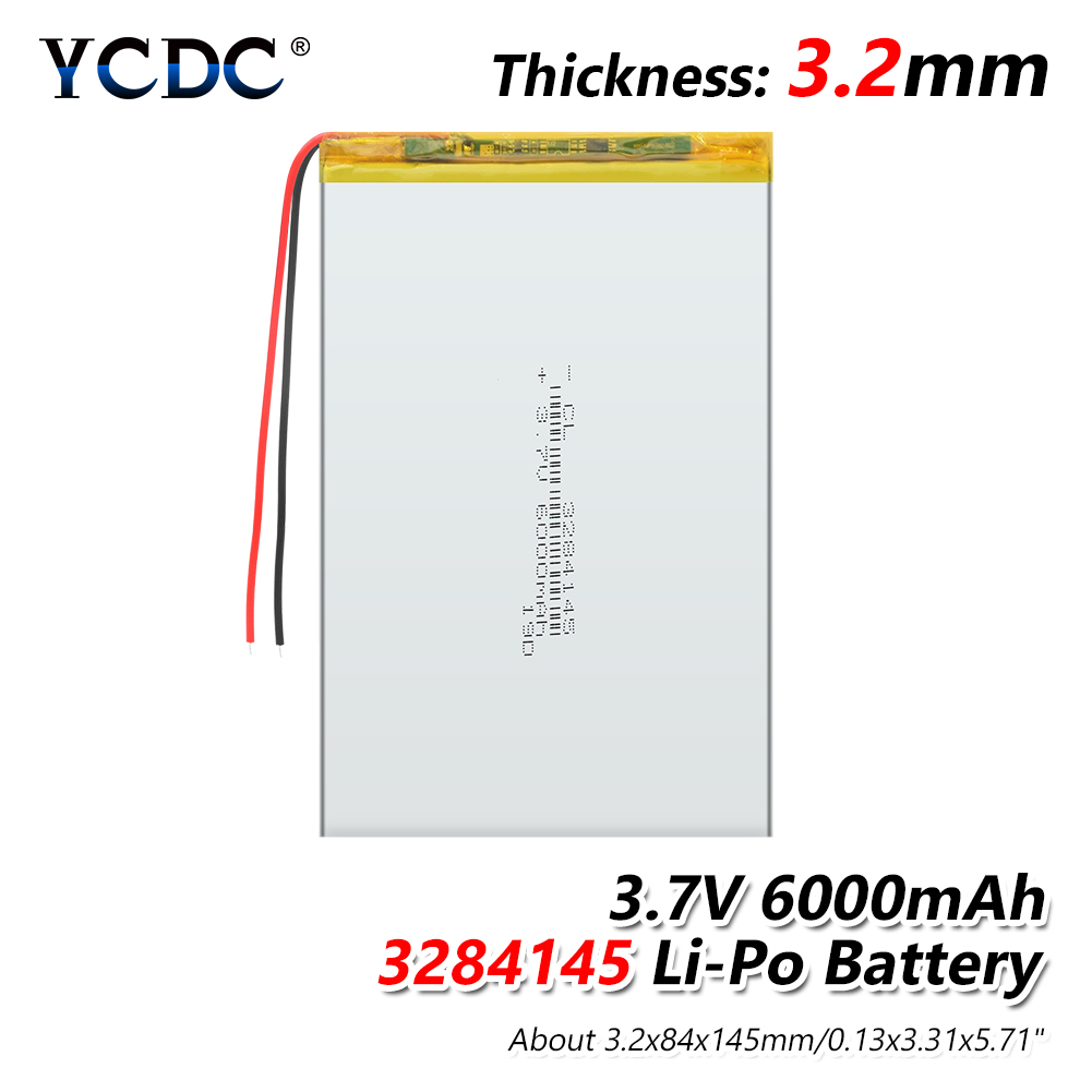 lithium polymer <font><b>battery</b></font> <font><b>3.7V</b></font> 1/2/4Pcs 3284145 <font><b>3.7v</b></font> <font><b>6000mah</b></font> li po ion <font><b>lipo</b></font> rechargeable <font><b>batteries</b></font> for dvd GPS navigation image