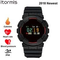 ITORMIS Aptidão Inteligente Pulseira SmartBand Pessure Sangue Esporte Banda Relógio de Pulso da Frequência Cardíaca Monitor de IP68 À Prova D' Água para IOS Android