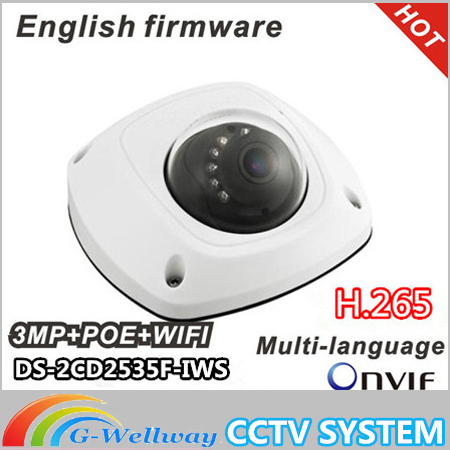 2016 New dome camera DS-2CD2535F-ISW, audio,Wifi ,3MP Mini dome,Up to 10m IR Network camera,DS-2CD2532F-IWS team up starter 1 test resource audio cd test maker cd rom