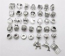 Mix 35pcs Dog dolphin Dollar Beads Pendant European Bead Fits Pandora Charms Bracelets & pendants diy Jewelry