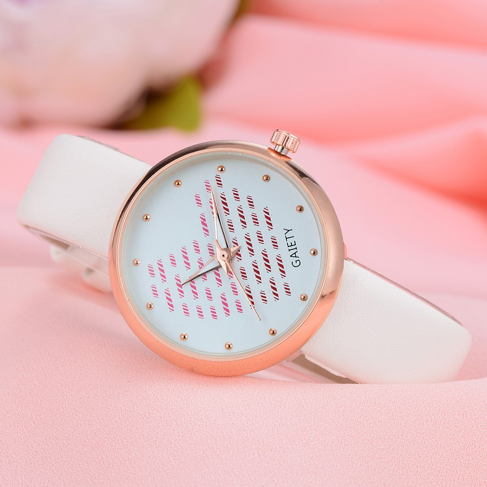 2018 Women's Watches in Quartz's Watches Fashion rosefield watches women Leather Band Analog Quartz Round Wrist Watches 8.31