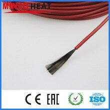 110 м 12 к 33 Ом инфракрасный, проходящий под полом нагревательный кабель системы 3 мм кремния углеродного волокна Электрический провод теплый