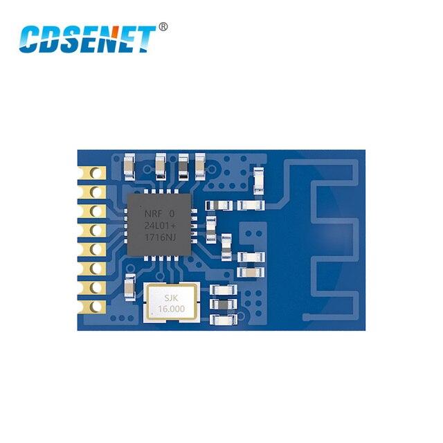 10 יח\חבילה nRF24L01P 2.4 GHz SPI E01 ML01S SMD אלחוטי משדר IoT 2.4 GHz אלחוטי nRF24L01 הרשות rf מודול